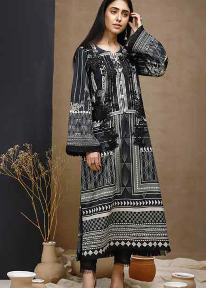 Mishkal by Rungrez Embroidered Lawn Unstitched 2 Piece Suit RNG20BW 04 - Black & White Collection