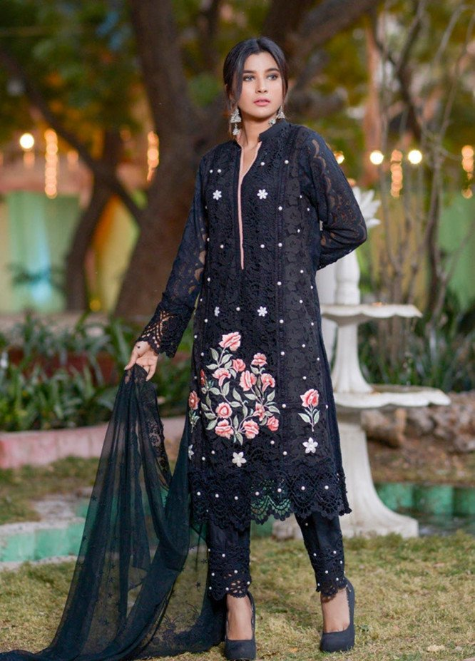 Zohan Textile Embroidered Chiffon Unstitched 3 Piece Suit ZT20MS 6 - Luxury Collection