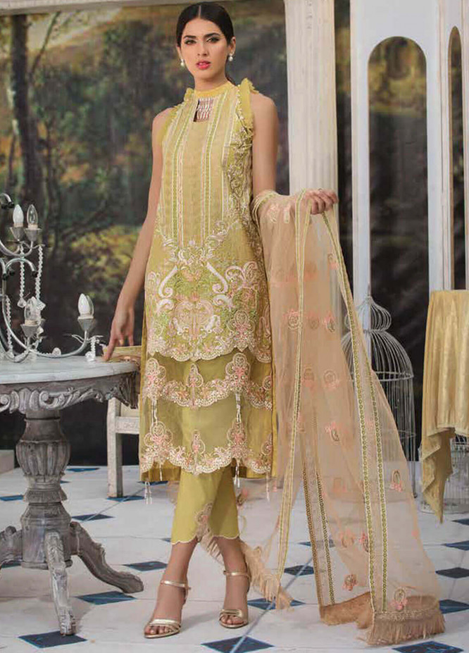 Motifz Embroidered Lawn Unstitched 3 Piece Suit MT19L 2208 POISED BOROFUEL - Spring / Summer Collection