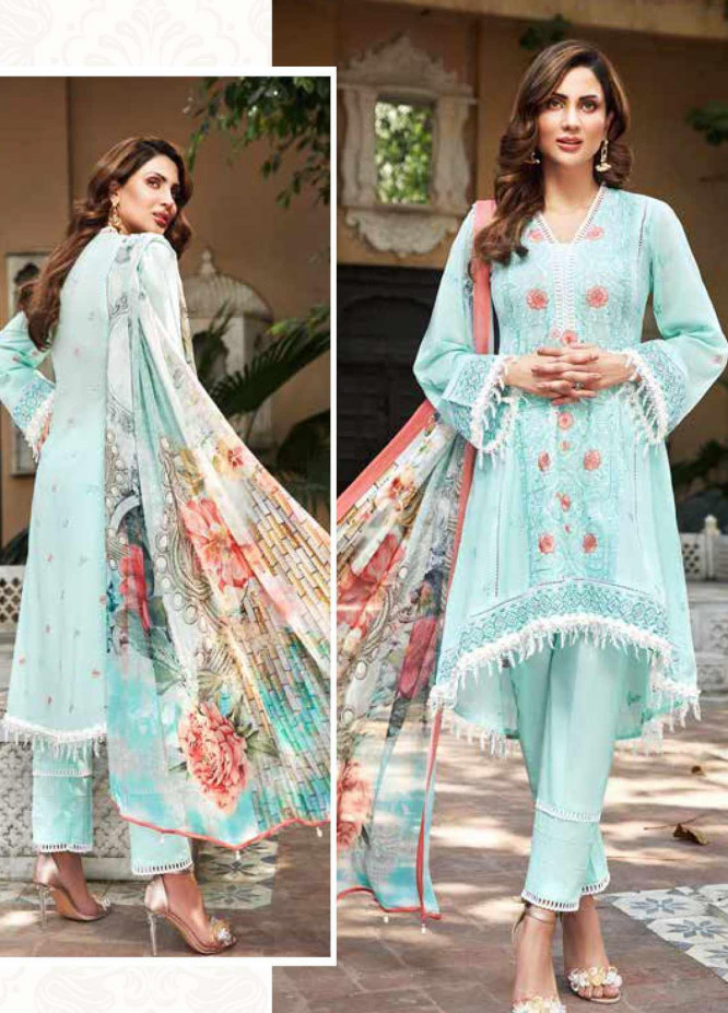 Mushk by Mohagni Embroidered Lawn Unstitched 3 Piece Suit MO20MU SE 08 - Spring / Summer Collection