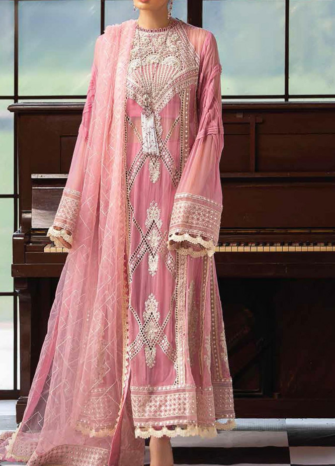 Mushq Embroidered Chiffon Unstitched 3 Piece Suit MQ20TL 3 ROSEATE - Luxury Collection