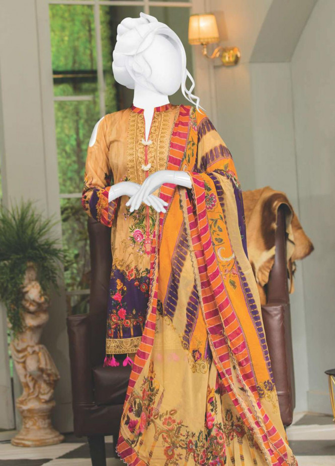Naayaab Clothing Embroidered Lawn Unstitched 3 Piece Suit NYD20-03 - Spring / Summer Collection