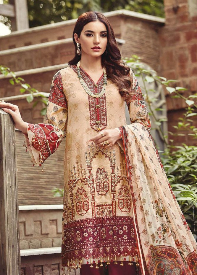 Nisa by Mohagni Embroidered Lawn Unstitched 3 Piece Suit MO20N MDE-02 - Festive Collection
