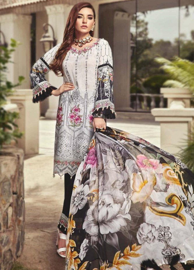 Nisa by Mohagni Embroidered Lawn Unstitched 3 Piece Suit MO20N MDE-03 - Festive Collection