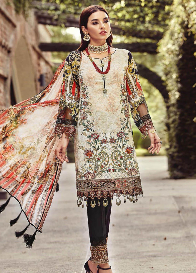 Nisa by Mohagni Embroidered Lawn Unstitched 3 Piece Suit MO20N MDE-06 - Festive Collection