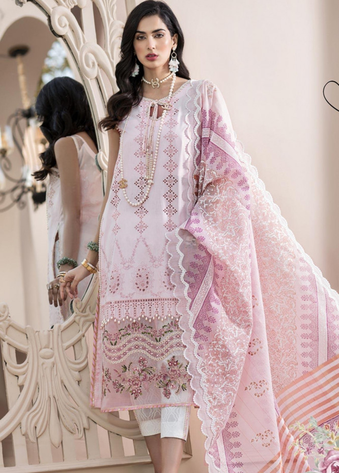 Noor by Saadia Asad Embroidered Lawn Unstitched 3 Piece Suit SA20NL D3 A - Luxury Collection