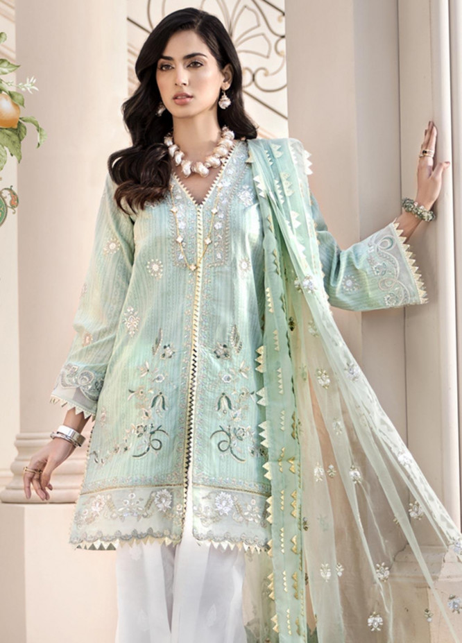 Noor by Saadia Asad Embroidered Lawn Unstitched 3 Piece Suit SA20NL D6 A - Luxury Collection
