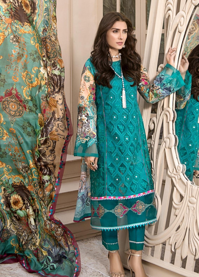Noor by Saadia Asad Embroidered Lawn Unstitched 3 Piece Suit SA20NL D7 A - Luxury Collection