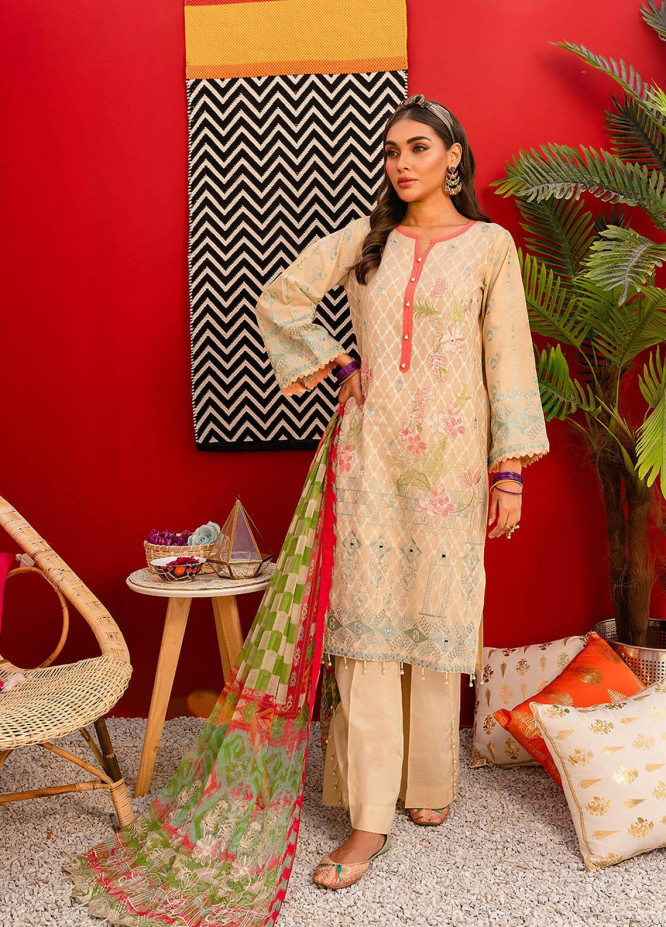 Nureh by Riaz Arts Embroidered Lawn Unstitched 3 Piece Suit NR20EL NJ 06 - Spring / Summer Collection