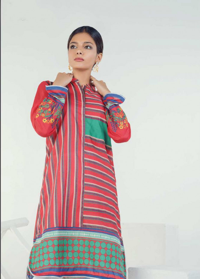 Orient Textile Embroidered Lawn Unstitched Kurties OT19-L3 155A - Mid Summer Collection