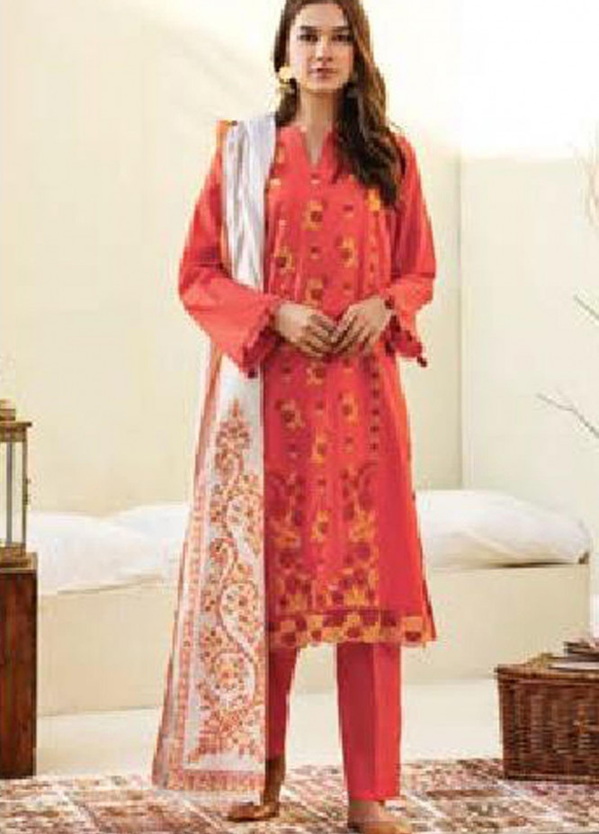 MYSA by Orient Embroidered Cottel Unstitched 3 Piece Suit OT20-MW2 178 A - Winter Collection