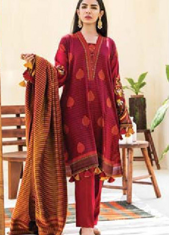 MYSA by Orient Embroidered Cottel Linen Unstitched 3 Piece Suit OT20-MW2 212 B - Winter Collection
