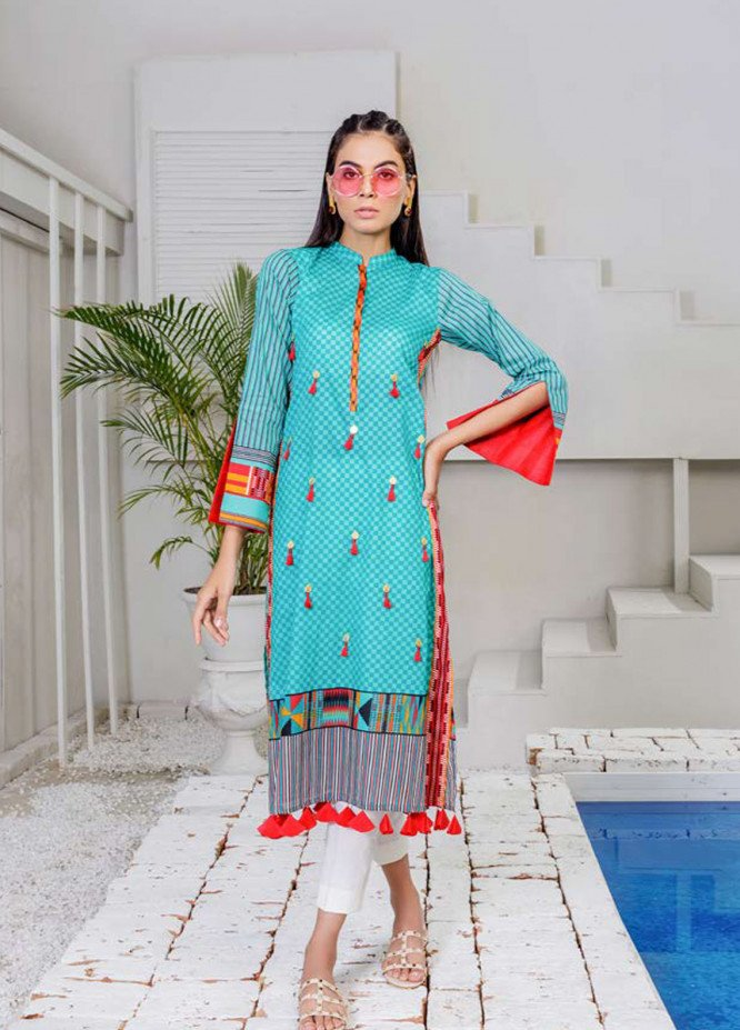Orient Textile Embroidered Lawn Unstitched Kurties OT19-L2 111 A - Spring / Summer Collection
