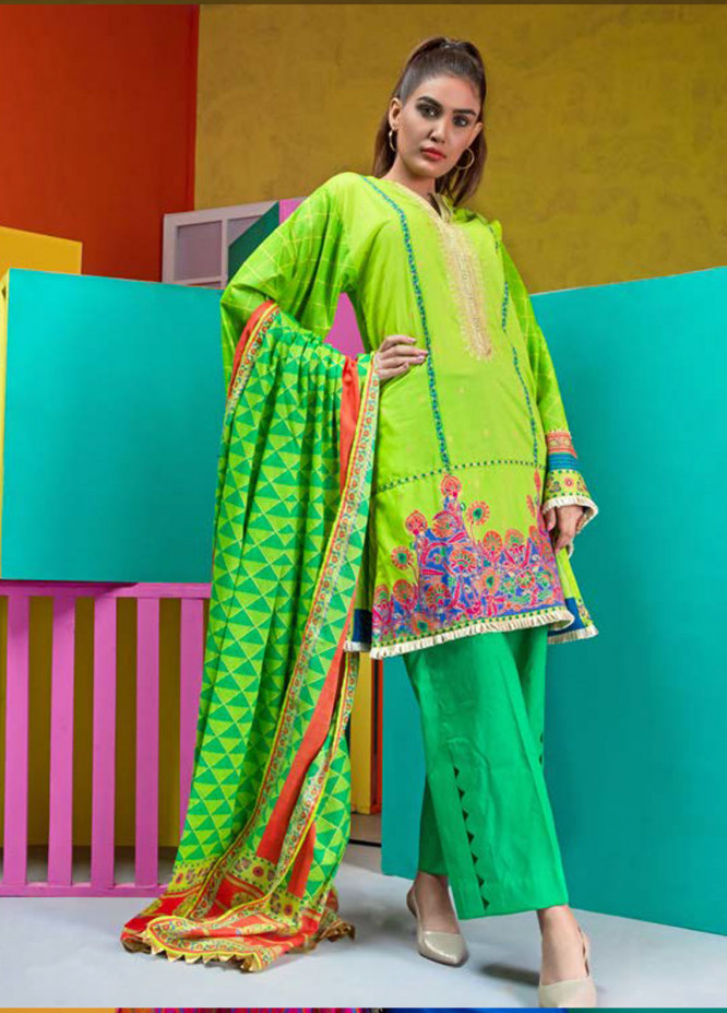 Orient Textile Embroidered Lawn Unstitched 3 Piece Suit OT19L 025 Swati A - Spring / Summer Collection