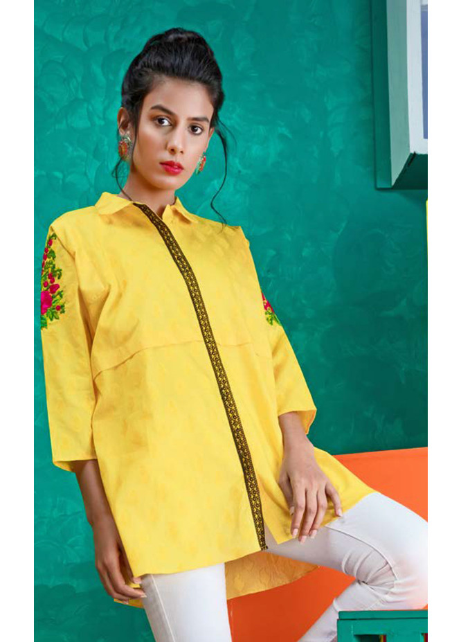 Orient Textile Embroidered Jacquard Unstitched Kurties OT19L 071 Paisley B - Spring / Summer Collection