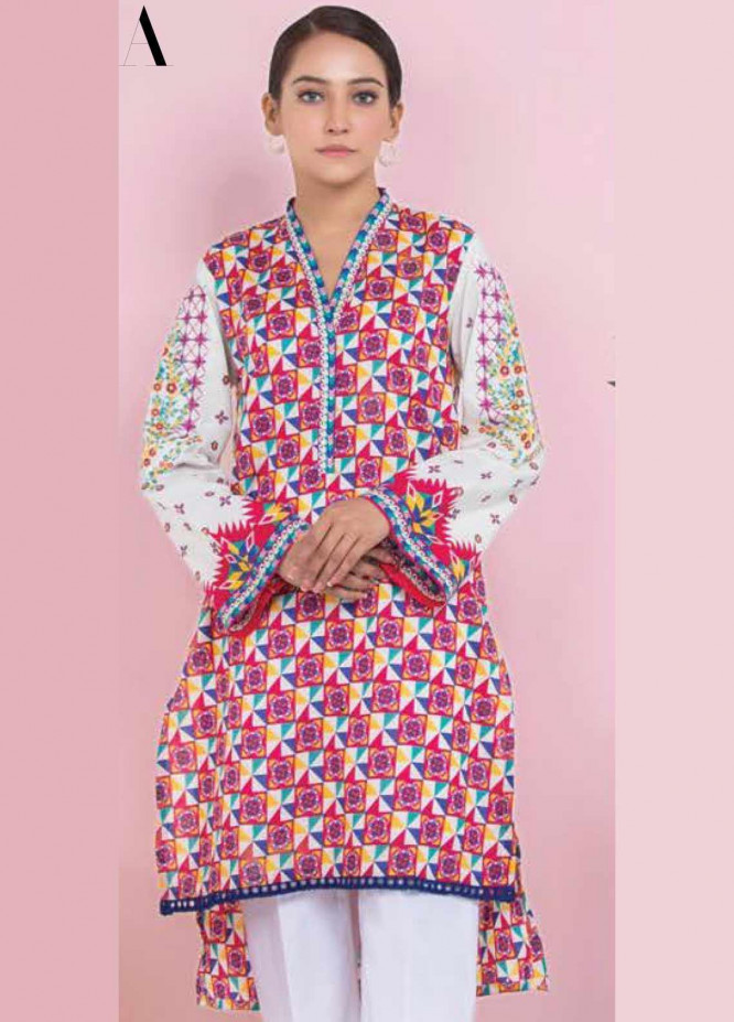 Orient Textile Embroidered Lawn Unstitched Kurties OT20SS 035A - Spring / Summer Collection