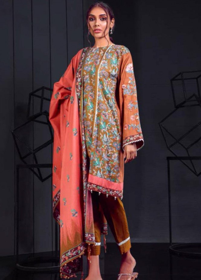 Orient Textile Embroidered Cotton Cotel Unstitched 3 Piece Suit OT19-W2 172 A - Winter Collection