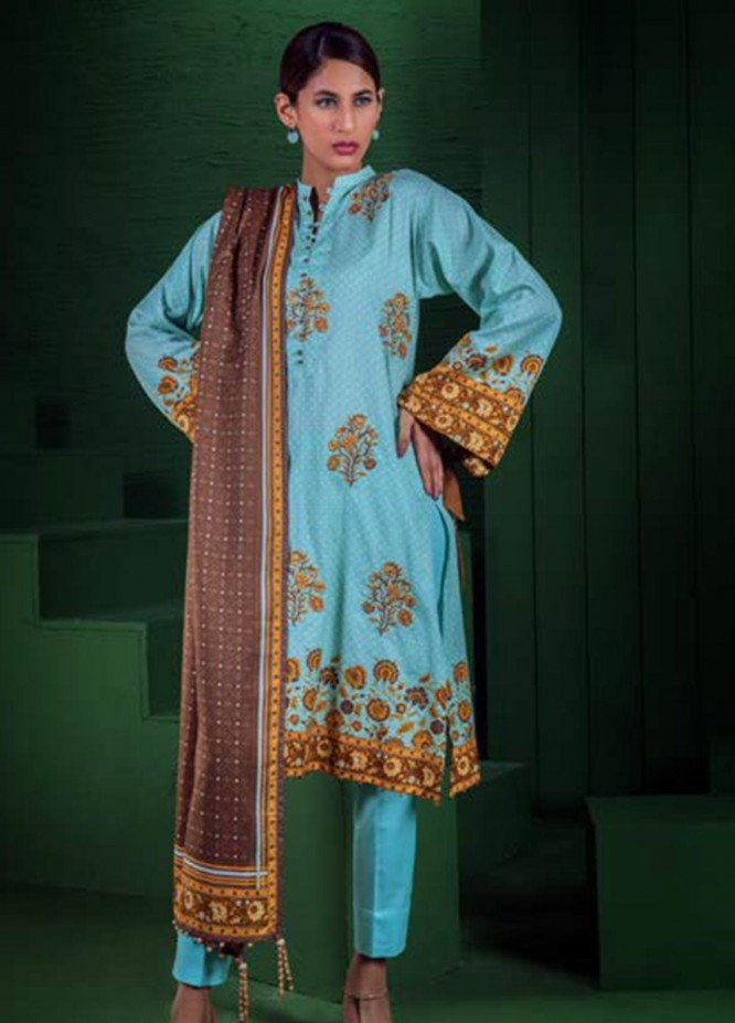 Orient Textile Embroidered Cotton Cotel Unstitched 3 Piece Suit OT19-W2 176 B - Winter Collection
