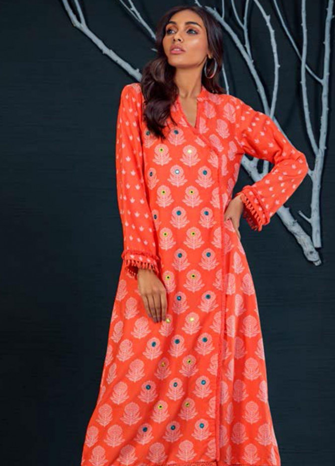 Orient Textile Embroidered Khaddar Unstitched Kurties OT19-W2 185 B - Winter Collection