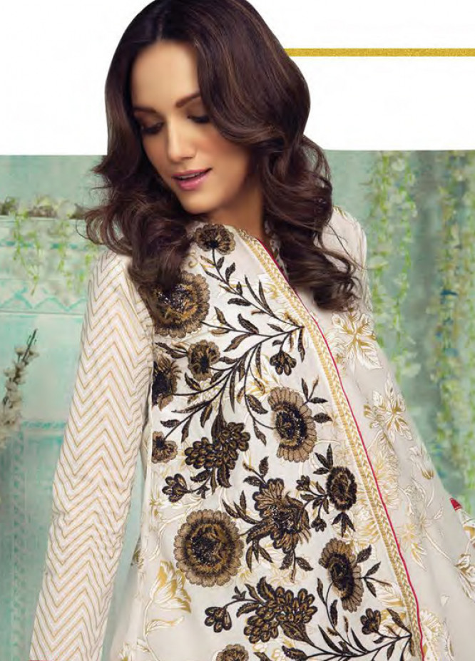 Orient Textile Embroidered Lawn Unstitched 3 Piece Suit OT18L 20A - Spring / Summer Collection