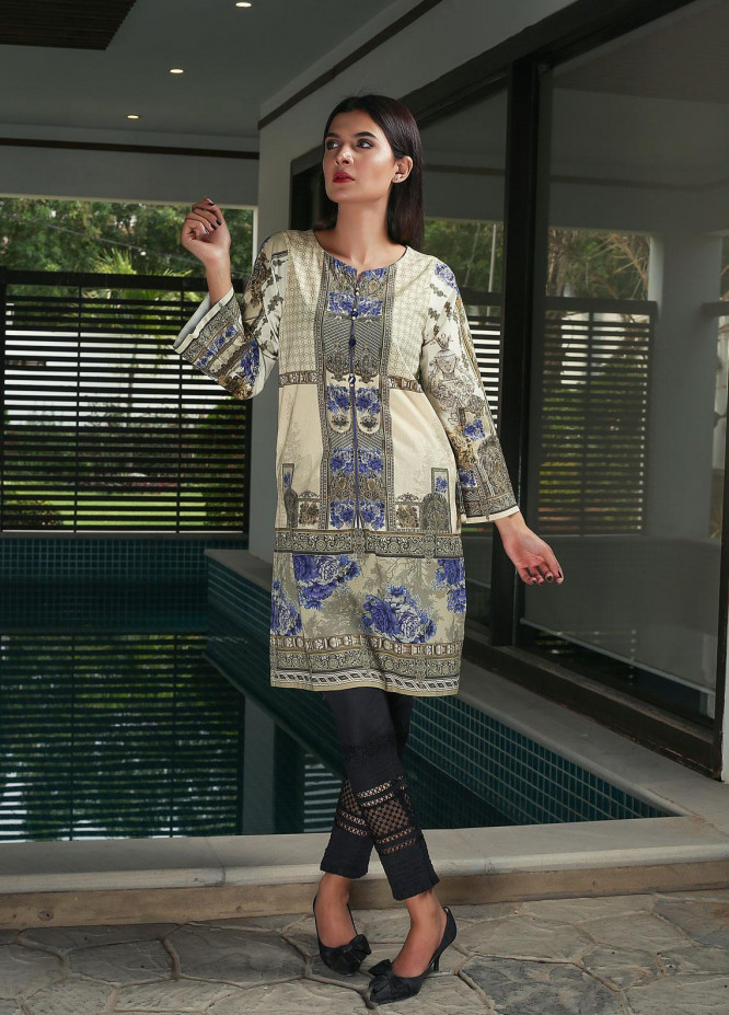 Oture Printed Cotton Stitched Kurtis ODW2191071 Green