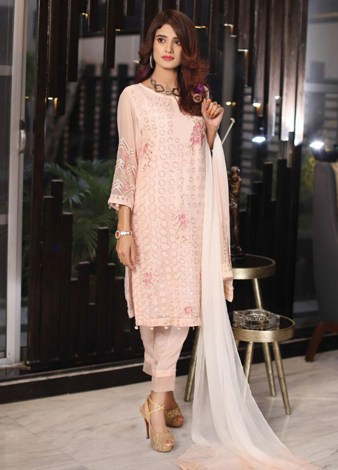 Panache by Puri Fabrics Embroidered Chiffon Unstitched 3 Piece Suit PCH20C 09 Sypsi - Luxury Collection