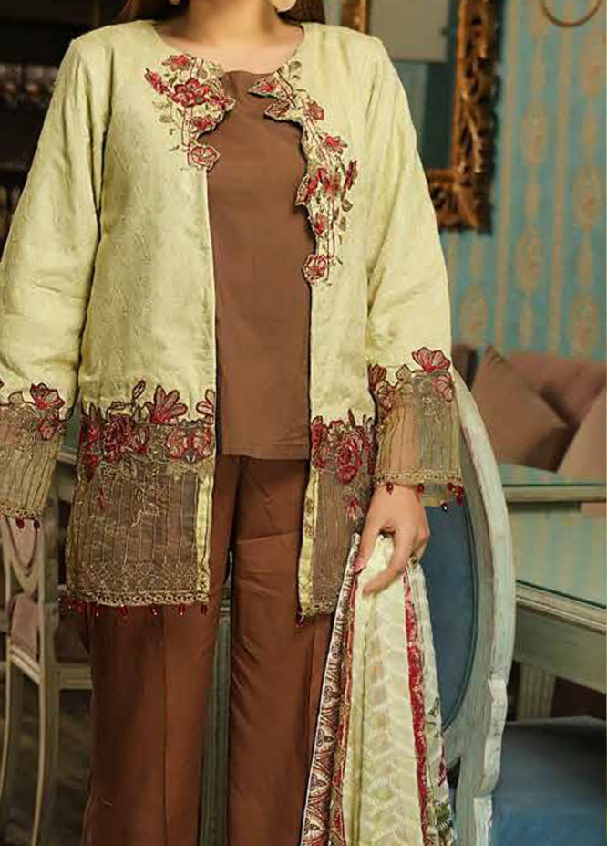 Panache by Puri Fabrics Embroidered Linen Unstitched 3 Piece Suit PCH20LN 07 - Winter Collection