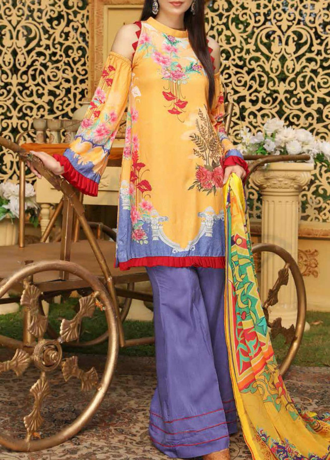 Panache by Puri Fabrics Embroidered Viscose Unstitched 3 Piece Suit PE20PF D-05 - Winter Collection