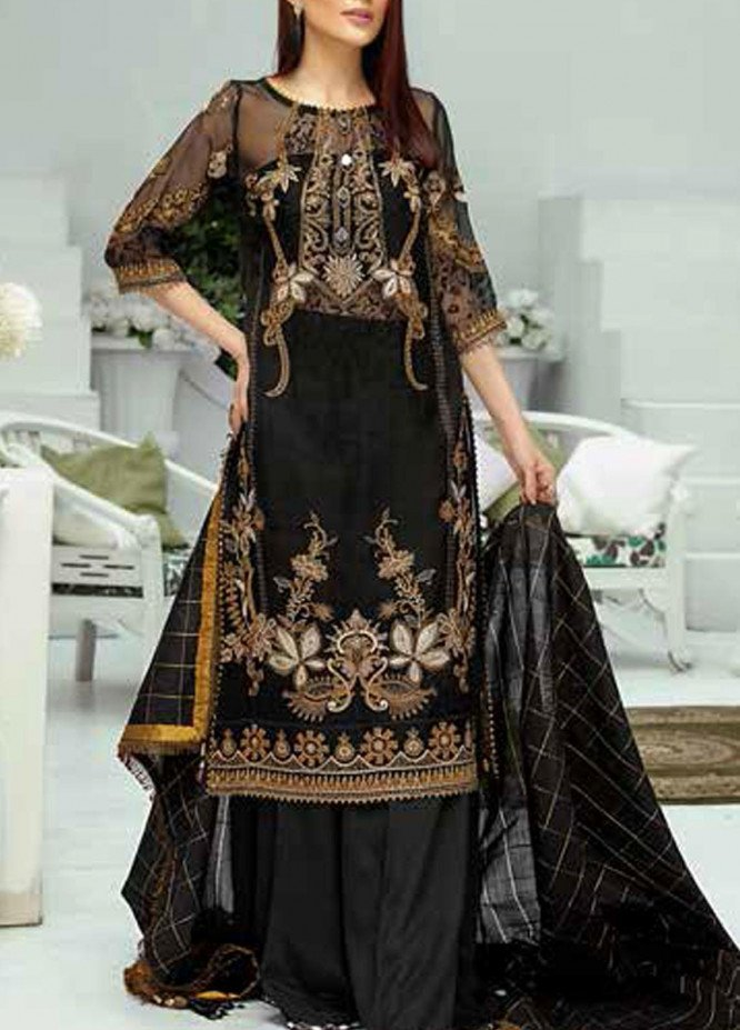 Panache by Puri Fabrics Embroidered Organza Unstitched 3 Piece Suit PCH20W 07 - Wedding Collection