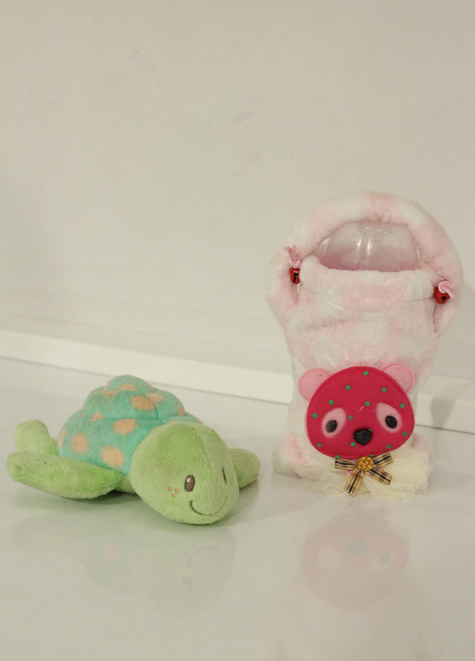 Plush Mink  Velvet Feeder Cover 1 Piece PEEKABOO Feeder Cover 02 Pink - Baby Products