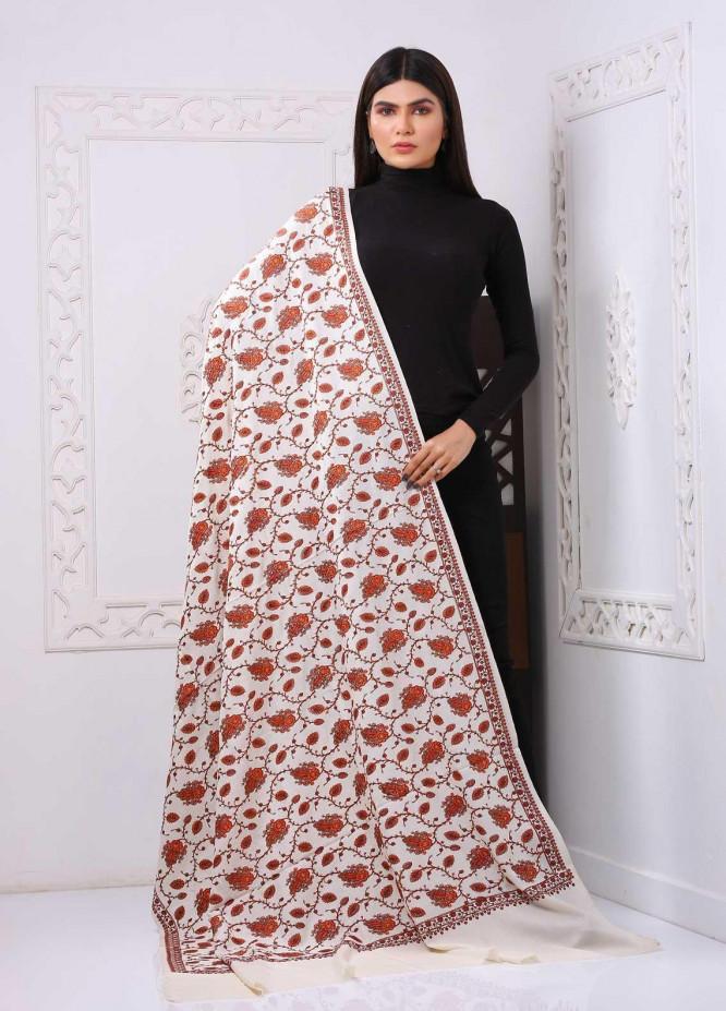 Sanaulla Exclusive Range Embroidered Premium Pashmina  Shawl PRMSH 323880 - Premium Pashmina Shawls
