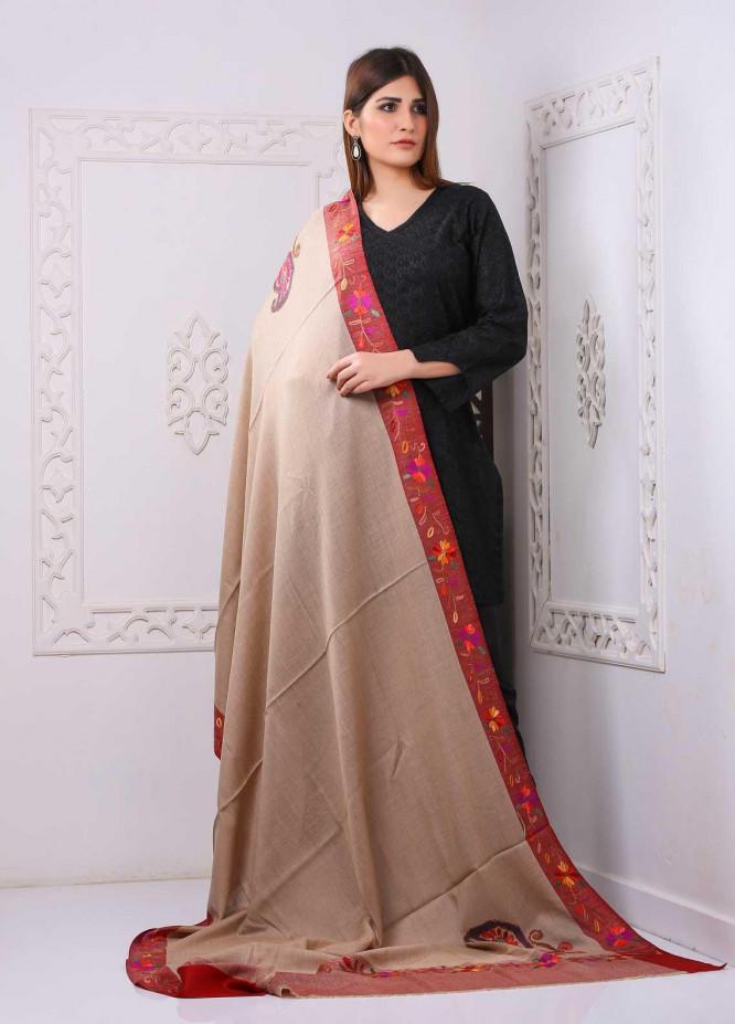 Sanaulla Exclusive Range Embroidered Premium Pashmina  Shawl PRMSH 323939 - Premium Pashmina Shawls