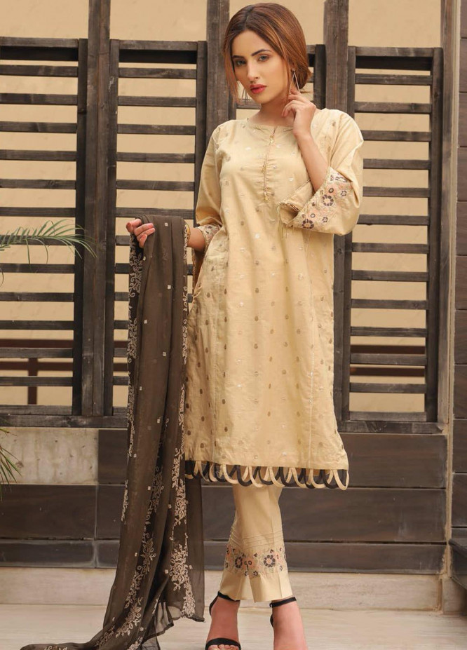 Puri Fabrics Embroidered Lawn Unstitched 3 Piece Suit PF20EM 10 - Spring / Summer Collection