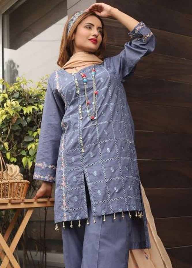 Puri Fabrics Embroidered Lawn Unstitched 3 Piece Suit PF20EM 11 - Spring / Summer Collection