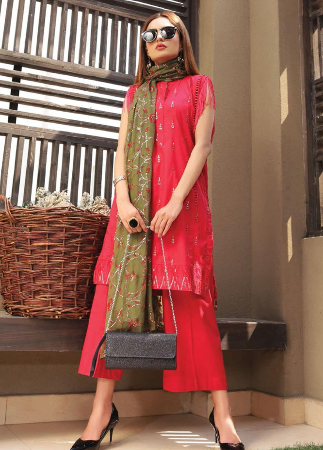 Puri Fabrics Embroidered Lawn Unstitched 3 Piece Suit PF20EM 4 - Spring / Summer Collection
