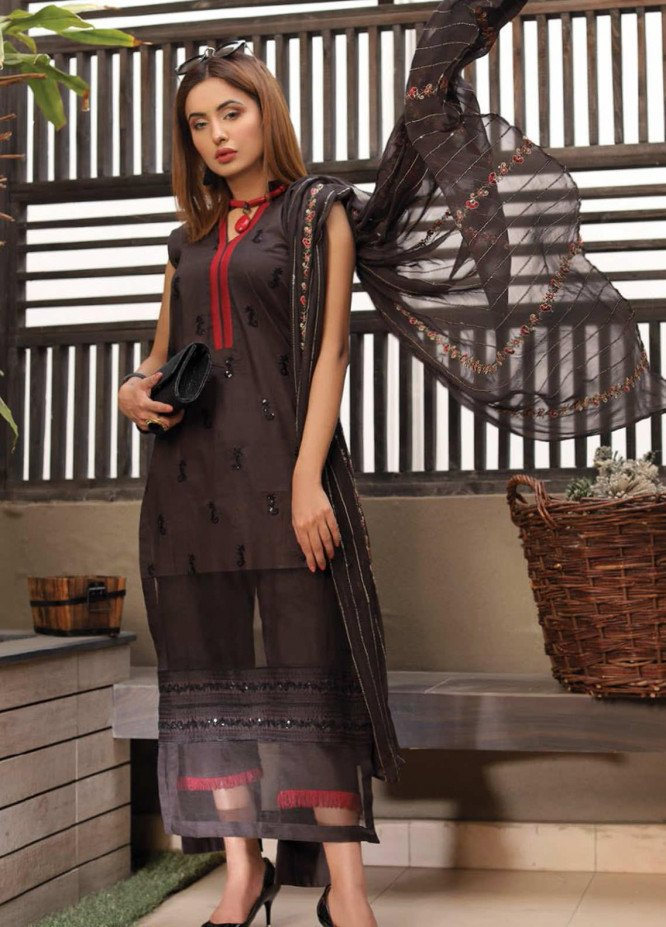 Puri Fabrics Embroidered Lawn Unstitched 3 Piece Suit PF20EM 8 - Spring / Summer Collection