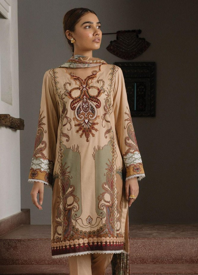 Qalamkar Embroidered Lawn Unstitched 3 Piece Suit QLM20Q 5 - Spring / Summer Collection
