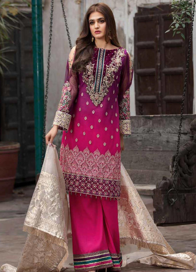 Rang e Bahar by Motifz Embroidered Net Unstitched 3 Piece Suit RB20MT 02354 - Luxury Collection