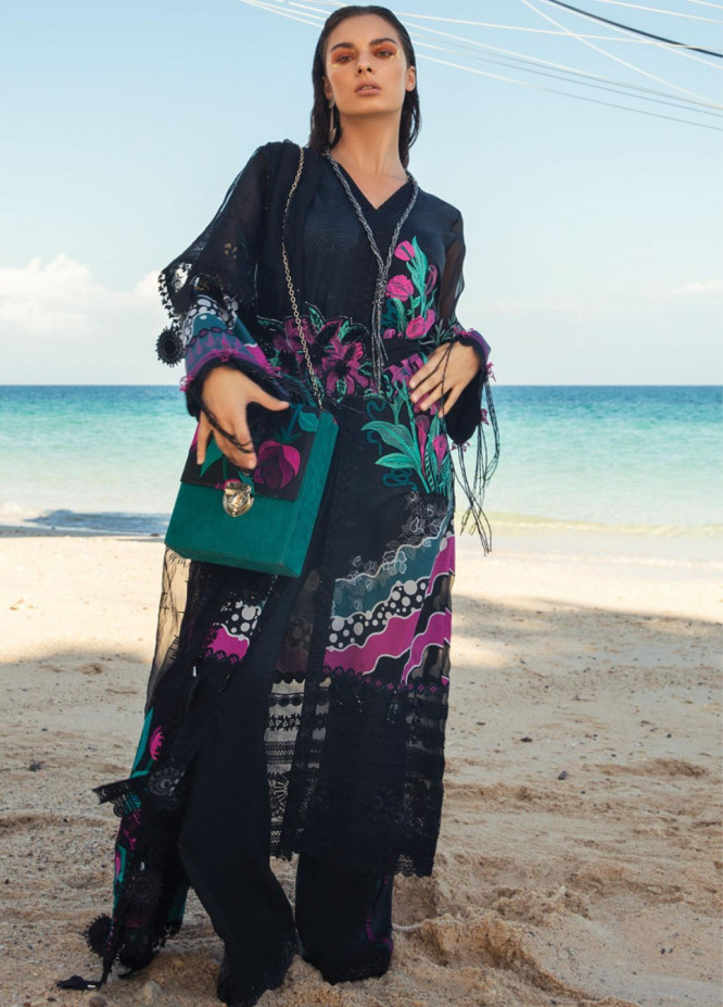 Rang Rasiya Embroidered Lawn Unstitched 3 Piece Suit RR20L 109 - Luxury Collection