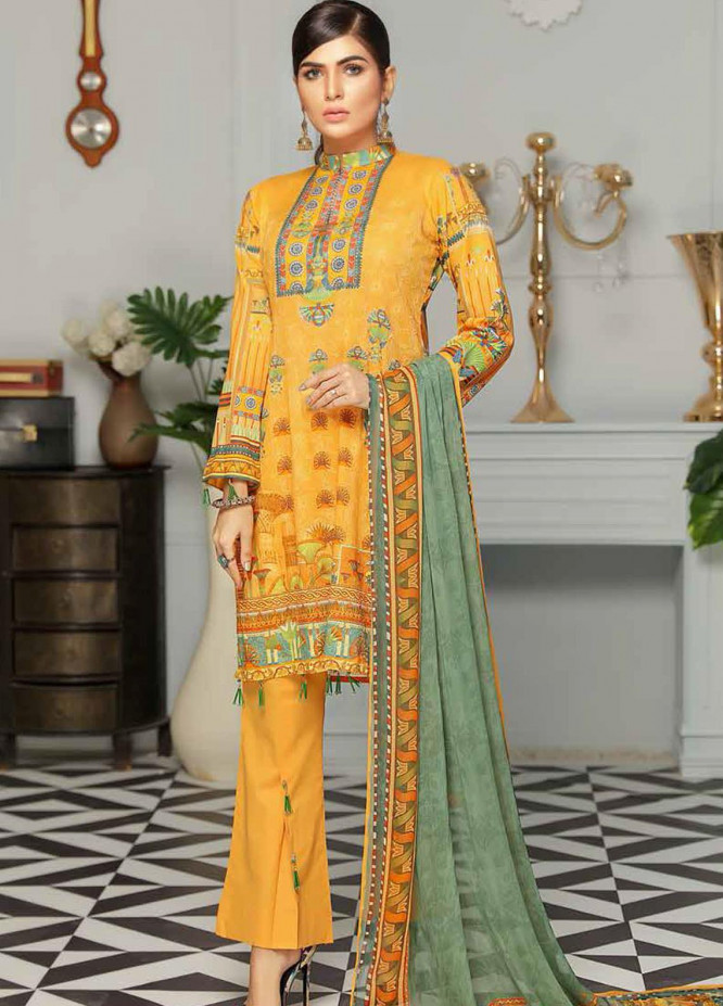Range by Sanam Saeed Embroidered Lawn Unstitched 3 Piece Suit SS20R D-01 - Festive Collection