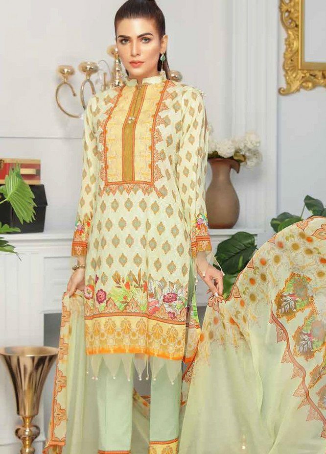 Range by Sanam Saeed Embroidered Lawn Unstitched 3 Piece Suit SS20R D-05 - Festive Collection
