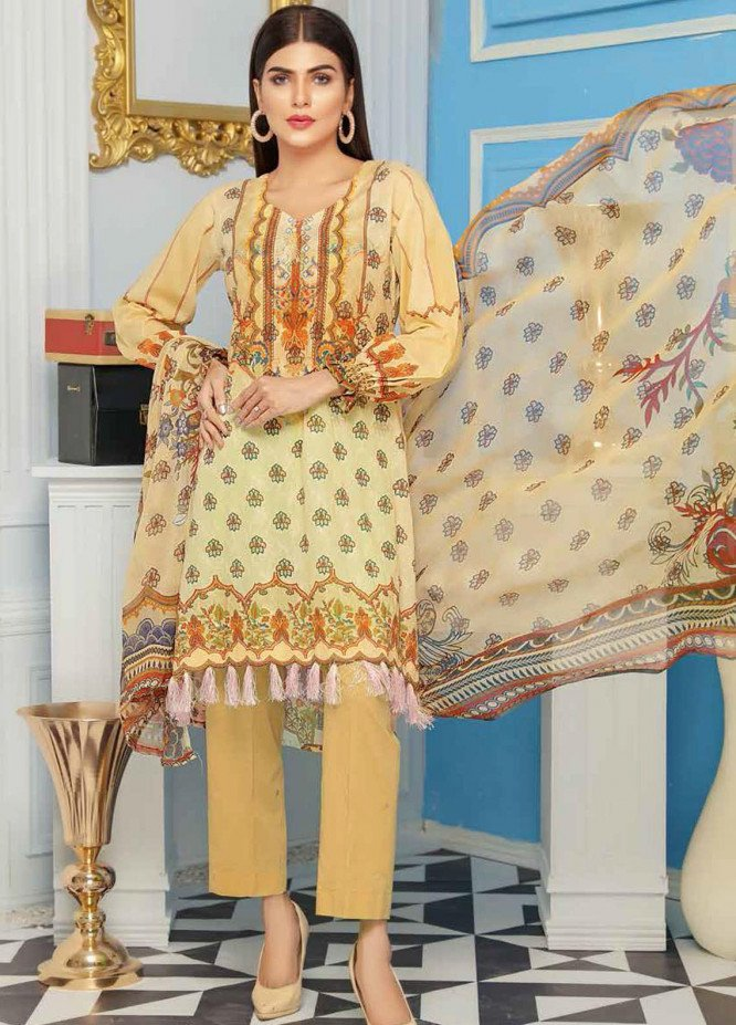 Range by Sanam Saeed Embroidered Lawn Unstitched 3 Piece Suit SS20R D-08 - Festive Collection