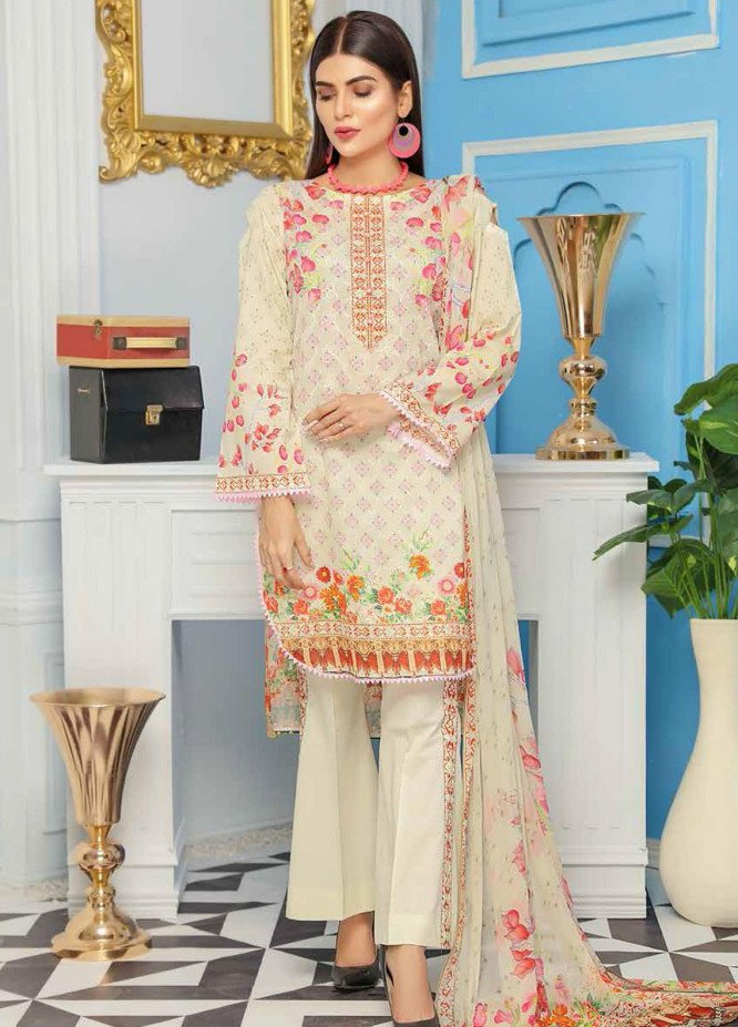 Range by Sanam Saeed Embroidered Lawn Unstitched 3 Piece Suit SS20R D-09 - Festive Collection