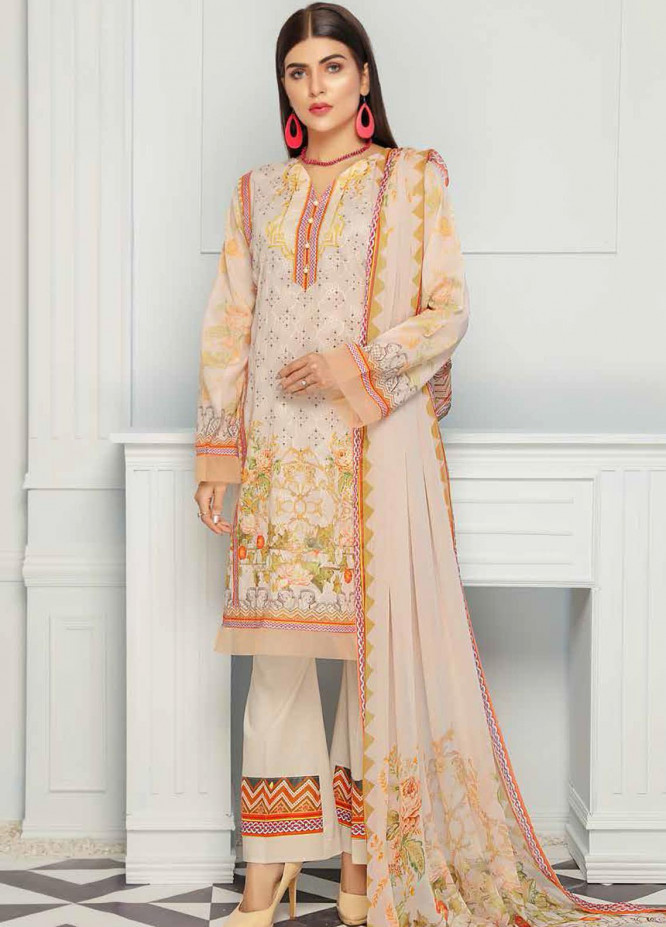 Range by Sanam Saeed Embroidered Lawn Unstitched 3 Piece Suit SS20R D-10 - Festive Collection