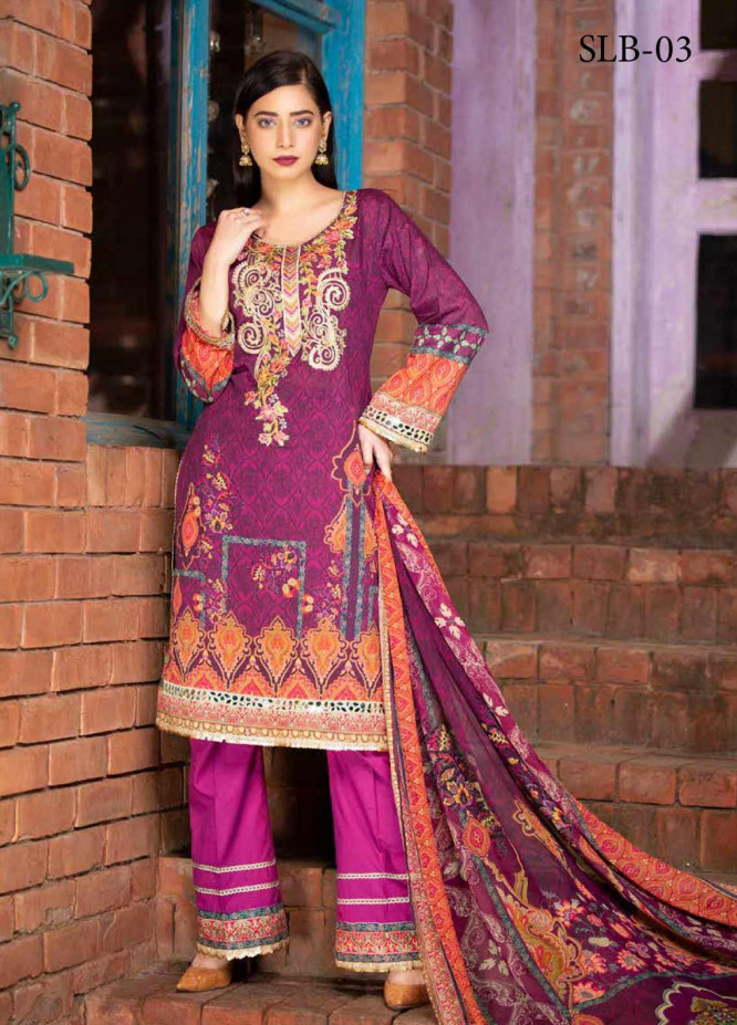 Rangoli by Shamira Embroidered Lawn Unstitched 3 Piece Suit SHR20N 3 - Summer Collection