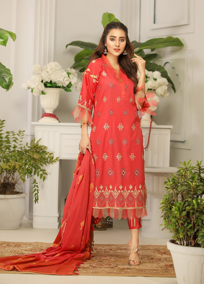 Rangreza by Panache Embroidered Lawn Unstitched 3 Piece Suit PF20RP 5 - Spring / Summer Collection