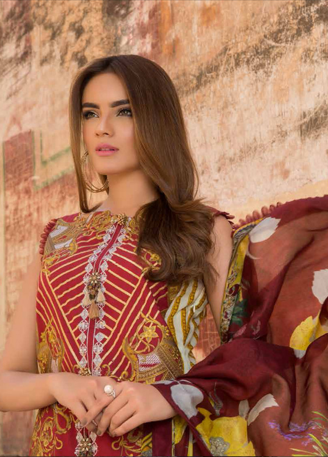 Rani Emaan Embroidered Lawn Unstitched 3 Piece Suit RE18L 03 - Festive Collection