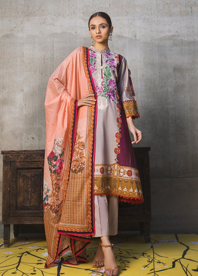 Regalia Textiles Embroidered Lawn Unstitched 3 Piece Suit RG20D 10 - Summer Collection
