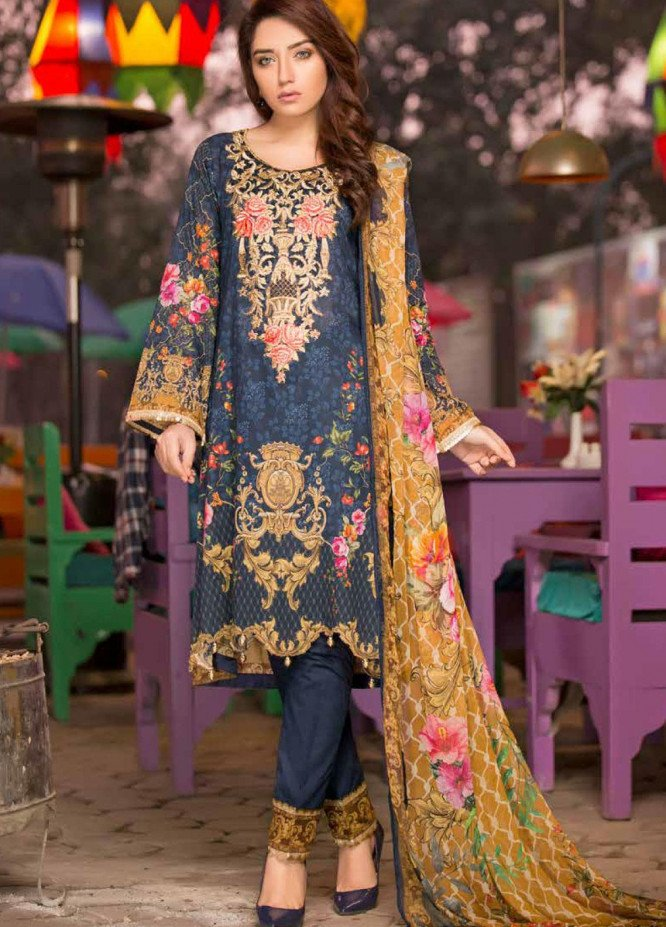 Shamira Embroidered Lawn Unstitched 3 Piece Suit SHR20RL 03 - Spring / Summer Collection
