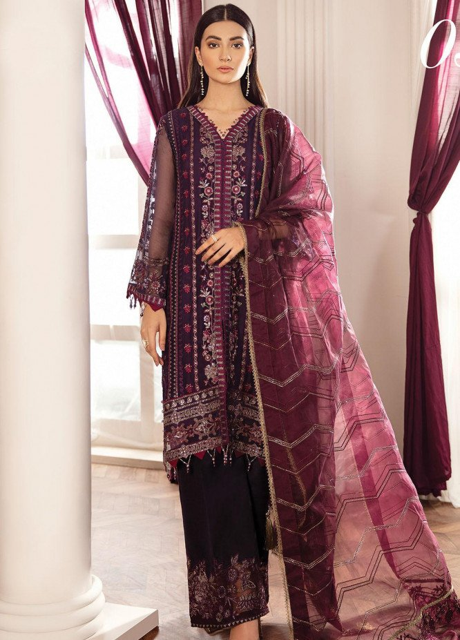 Rohtas by Xenia Formals Embroidered Chiffon Unstitched 3 Piece Suit XE20RF 03 Zeneria - Wedding Collection